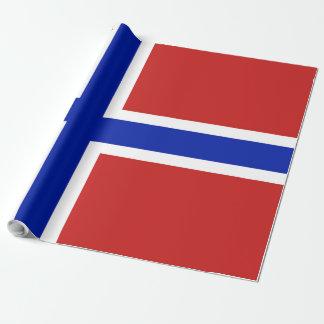 Papel De Presente Bandeira do escandinavo de Noruega
