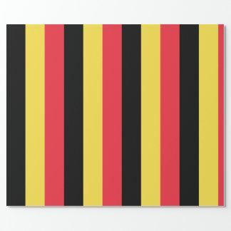 Papel De Presente Bandeira do papel de envolvimento de Bélgica