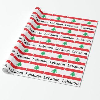Papel De Presente Bandeira e nome de Líbano