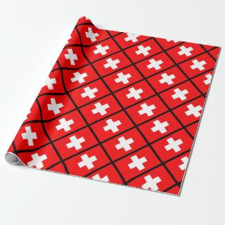 Papel De Presente Bandeira suíça