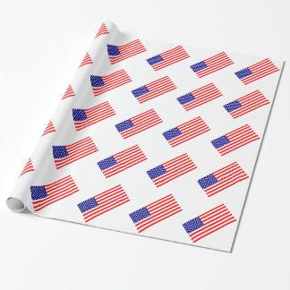 Papel De Presente Bandeiras americanas EUA