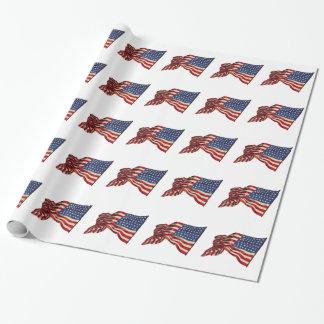 Papel De Presente Bandeiras dos EUA