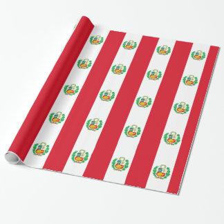 Papel De Presente Bandera del Perú - bandeira de Peru