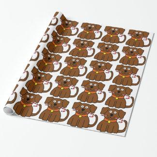 Papel De Presente Bastão de doces do filhote de cachorro