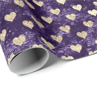 Papel De Presente Beringela roxa violeta de veludo do ouro mais