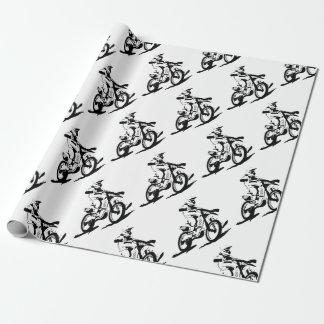 Papel De Presente Bicicleta e cavaleiro simples de Motorcross
