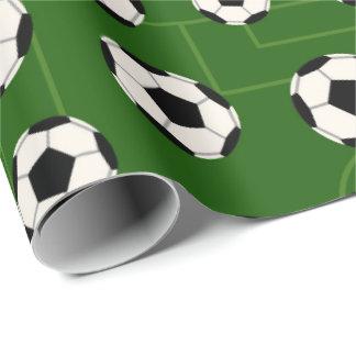 Papel De Presente Bola de futebol e de partido do campo papel de