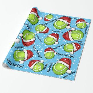 Papel De Presente Bola de tênis do estilo do Natal
