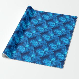 Papel De Presente bolhas azuis