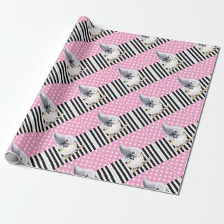 Papel De Presente Bolinhas cor-de-rosa do Titmouse