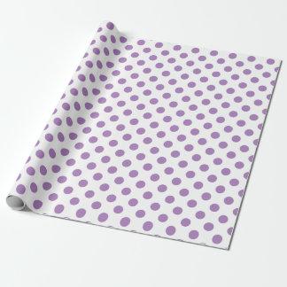 Papel De Presente Bolinhas da lavanda no branco