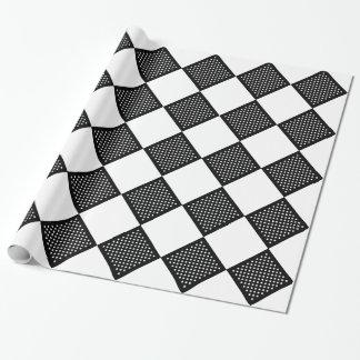 Papel De Presente Bolinhas preto e branco