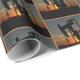 Papel De Presente Bomba de óleo Jack em letras miudinhas do papel de