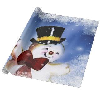 Papel De Presente Boneco de neve bonito da dança