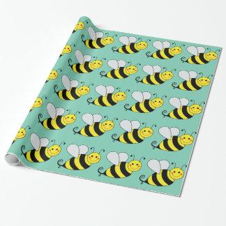 Papel De Presente Bonito Bumble o teste padrão da abelha