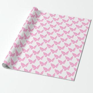 Papel De Presente Borboleta cor-de-rosa