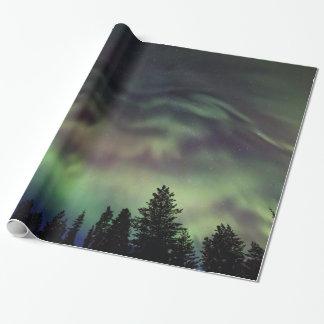 Papel De Presente Borealis da Aurora em Lapland finlandês