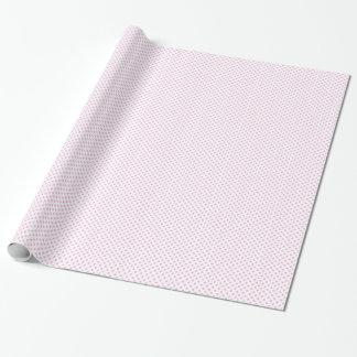 Papel De Presente Branco com papel de envolvimento cor-de-rosa das