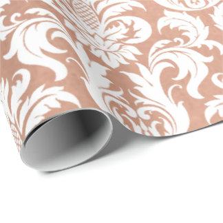 Papel De Presente Branco de prata real metálico do cobre do ouro do