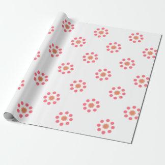 Papel De Presente Branco do rosa da mandala do design