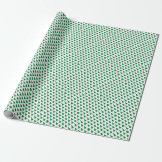 Papel De Presente branco novo do verde do design do Natal