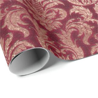 Papel De Presente Brilho real Borgonha do ouro cor-de-rosa de