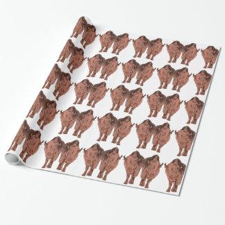 Papel De Presente Búfalo selvagem