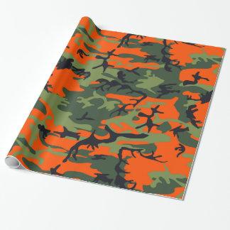 Papel De Presente Caçador da laranja da camuflagem