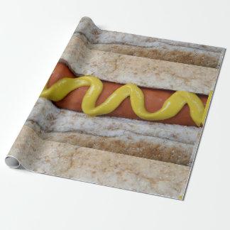 Papel De Presente cachorro quente delicioso com fotografia da