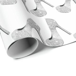 Papel De Presente Calçados dos saltos altos do diamante dos cristais