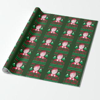 Papel De Presente Camisola do Natal do trunfo - faça o excelente Aga