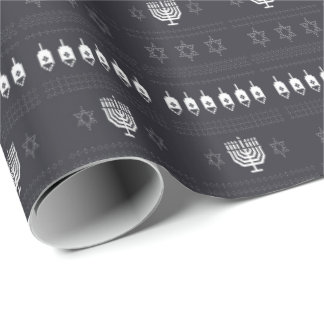 Papel De Presente Camisola feia de Hanukkah