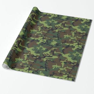 Papel De Presente Camo verde militar