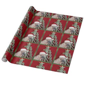 Papel De Presente Cão de Sharpei do Natal