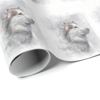Papel De Presente Cão do Malamute do Alasca