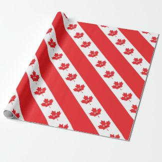 Papel De Presente Cara canadense da folha de bordo