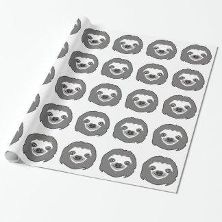 Papel De Presente Cara da preguiça