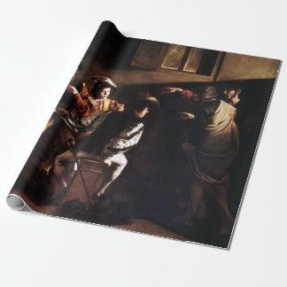 Papel De Presente Caravaggio a chamada de St Matthew