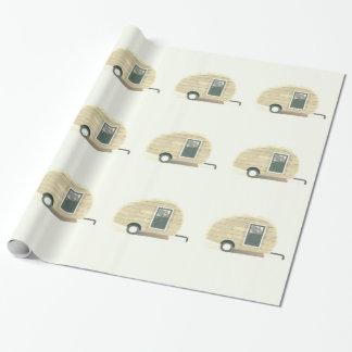 Papel De Presente caravana minúscula do cigano do reboque