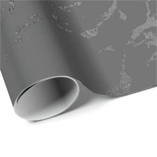 Papel De Presente Carrara de prata de mármore cinzento profundo