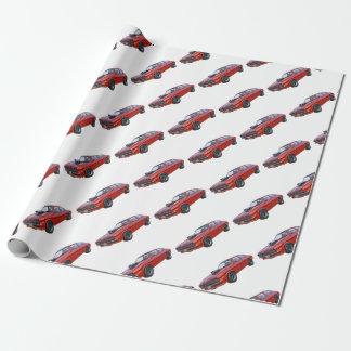 Papel De Presente carro vermelho do músculo dos anos 70