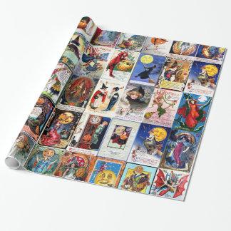 Papel De Presente Cartão do vintage do Dia das Bruxas