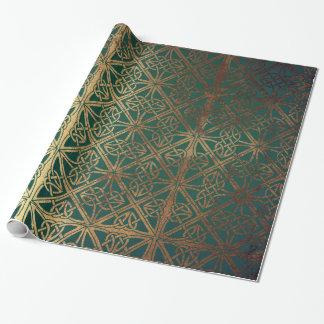 Papel De Presente Céltico verde