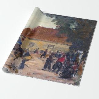 Papel De Presente Cena da rua de Robert Henri Volendam