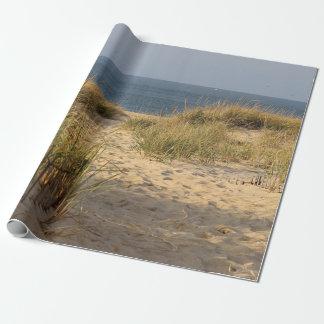 Papel De Presente Cerca da praia nas dunas de areia