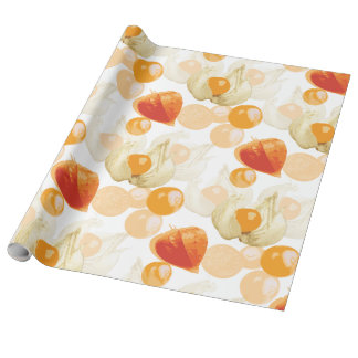 Papel De Presente Cerejas de inverno do Physalis |