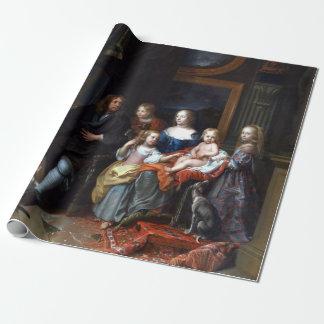 Papel De Presente Charles Le Brun Everhard Jabach e sua família
