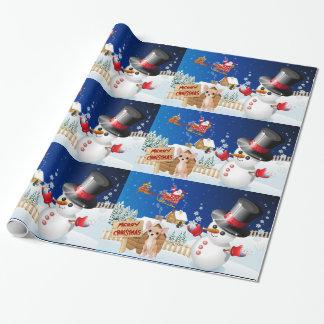 Papel De Presente Chihuahua do Feliz Natal com gelado