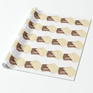 Papel De Presente Chocolate branco e marrom