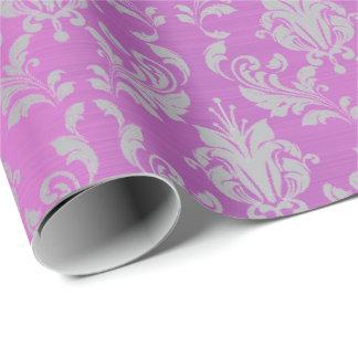 Papel De Presente Cinzas Amethyst da lavanda da ameixa roxa do